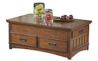 Ashley Cross Island Lift-Top Coffee Table