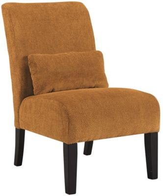 Ashley Annora Orange Accent Chair