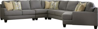 Ashley Chamberly Right-Side Cuddler 5-Piece Sectional
