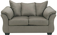 Ashley Darcy Microfiber Gray Loveseat