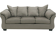 Ashley Darcy Microfiber Gray Sofa