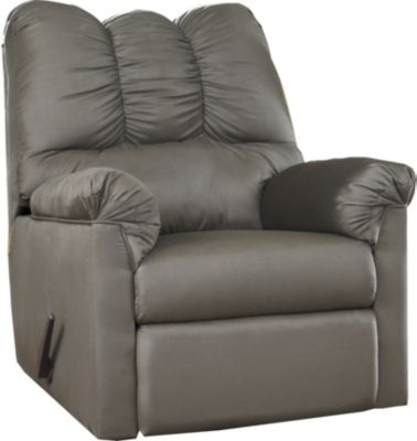 Ashley Darcy Microfiber Gray Rocker Recliner