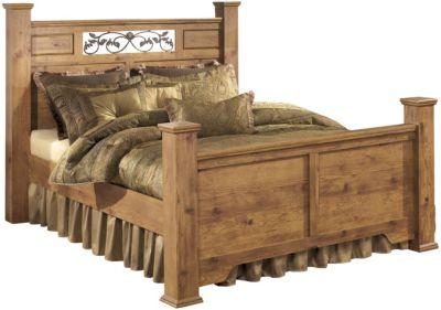 Ashley Bittersweet Queen Poster Bed | Homemakers Furniture