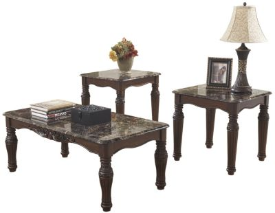 Ashley North Shore Coffee Table and 2 End Tables