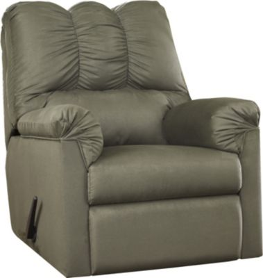 Ashley Darcy Microfiber Green Rocker Recliner