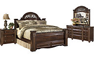 Ashley Gabriela 4-Piece Queen Storage Bedroom Set
