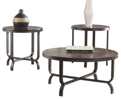 Ashley Ferlin Coffee Table and 2 End Tables