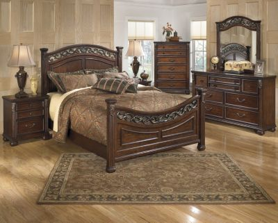 ashley king bedroom set. Ashley Leahlyn 4 Piece King Bedroom Set  Homemakers Furniture