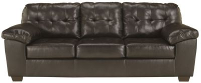 Ashley Alliston Chocolate Bonded Leather Queen Sleeper
