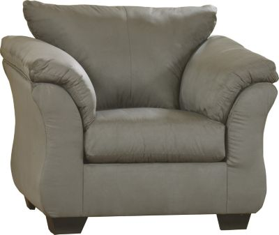 Ashley Darcy Microfiber Gray Chair