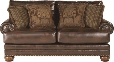 Ashley Chaling Bonded Leather Loveseat