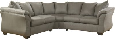 Ashley Darcy Microfiber Gray 2-Piece Sectional