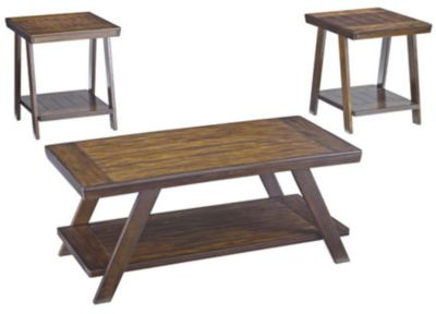 Ashley Bradley Coffee Table & 2 End Tables