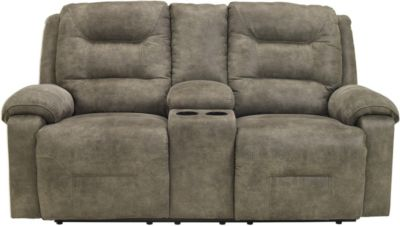 Ashley Rotation Power Reclining Loveseat with Console