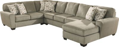 Ashley Patola Park Right-Side Chaise 4-Piece Sectional