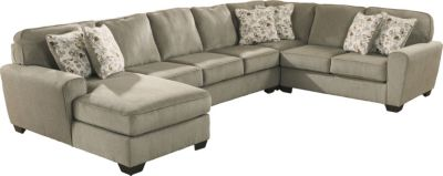 Ashley Patola Park Left-Side Chaise 4-Piece Sectional  sc 1 st  Homemakers Furniture : ashley furniture patola park sectional - Sectionals, Sofas & Couches