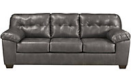 Ashley Alliston Gray Bonded Leather Queen Sleeper