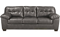 Ashley Alliston Gray Bonded Leather Sofa