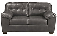 Ashley Alliston Gray Bonded Leather Loveseat