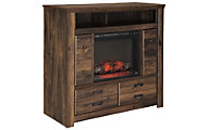 Ashley Quinden Media Chest with Fireplace Insert