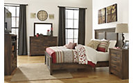 Ashley Quinden Queen Panel Bedroom Set