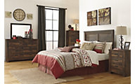 Ashley Quinden Queen Headboard Bedroom Set