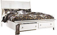 Ashley Prentice White California King Storage Bed