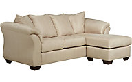 Ashley Darcy Microfiber Cream Sofa Chaise