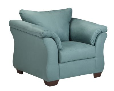 Ashley Darcy Microfiber Blue Chair