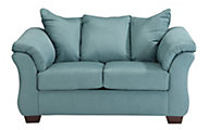 Ashley Darcy Microfiber Blue Loveseat