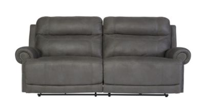 Ashley Austere Gray Power Reclining Sofa
