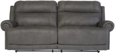Ashley Austere Gray Reclining Sofa