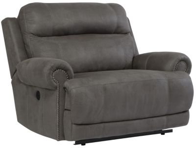 Ashley Austere Gray Wide Power Wall Recliner