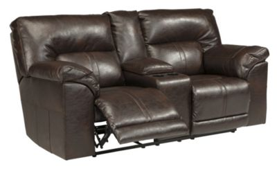 Ashley Barrettsville Reclining Loveseat w/Console