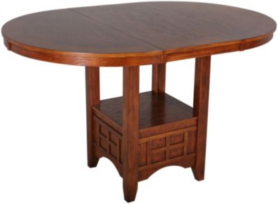 ashley cross island counter mission leg table | homemakers furniture