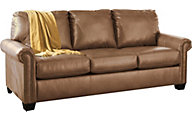 Ashley Lottie Almond Queen Sleeper Sofa with Memory Foam