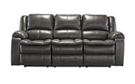 Ashley Long Knight Gray Power Reclining Sofa