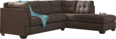 Ashley Maier Walnut 2-Piece Sectional with Sleeper