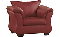 Ashley Darcy Microfiber Red Chair
