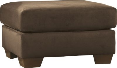 Ashley Darcy Microfiber Brown Ottoman