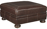 Ashley Banner Leather Cocktail Ottoman