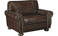 Ashley Banner Leather Chair & 1/2
