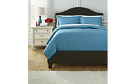 Ashley Raleda Turquoise 3-Piece King Coverlet Set