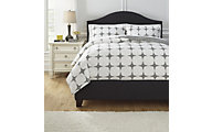 Ashley Cyrun Gray 3-Piece Queen Duvet Cover Set