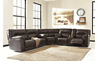 Ashley Barrettsville Bonded Ltr 3-Piece Recl Sectional