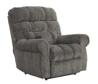 Ashley Ernestine Slate Power Lift Recliner