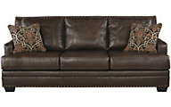 Ashley Corvan Leather Sofa