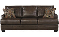 Ashley Corvan Leather Queen Sleeper Sofa