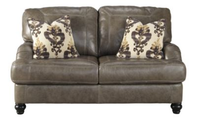 Ashley Kannerdy Leather Loveseat