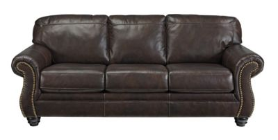 Ashley Bristan Leather Queen Sleeper Sofa